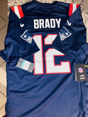 New England Patriots Navy TOM BRADY JERSEY XL for Sale in San Jose, CA