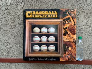 Solid Wood 9 Baseballs Display Case for Sale in Yorba Linda, CA