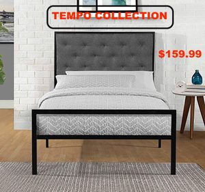 Full Metal Bed Frame with Headboard, Grey, #7577F for Sale in Downey, CA