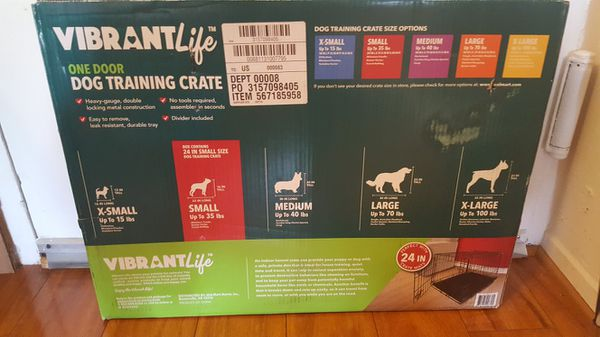 Vibrant Life small dog crate