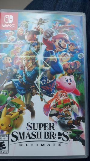 Super smash bros for nintendo switch for Sale in Tacoma, WA