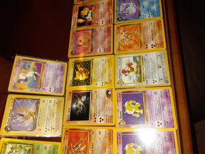 Pokemon cards!!! Some of the holographic type 1st gen fossils very nice collection. for Sale in Henderson, NV