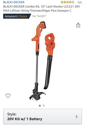 Black+decker cordless 10 in. String trimmer/ edger and hard surface sweeper for Sale in Edison, NJ