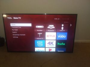 "CLEAN!!!!TCL Roku 56"" smart tv for Sale in FAIRMOUNT HGT, MD"