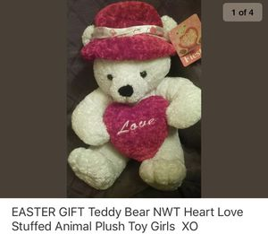 Easter 🐣 gift teddy bear love 💕 stuffed animal plush toy for Sale in Cary, NC