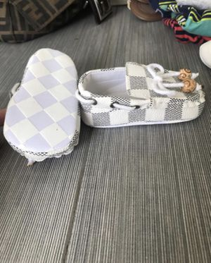 Luis Vuitton print baby shoes for Sale in Queens, NY