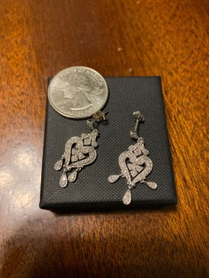 White Gold and Diamond Earrings for Sale in Germantown, MD