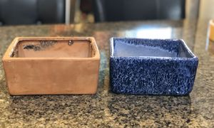 "Two very nice square planters. Great for succulents! Both for $10. They measure 7""x7""x3"". for Sale in Tolleson, AZ"