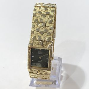 "10K Yellow Gold Man's Nugget Watch 9"" with Geneve Classic Quartz Movement $1529.99 for Sale in Tampa, FL"