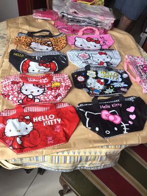 Plastic purse bag snack lunch ballet gym hello kitty cat for Sale in Sunny Isles Beach, FL