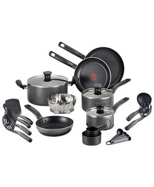 T-Fal 18-Pc. Nonstick Cookware Set for Sale in Garden Grove, CA