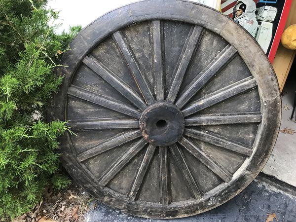 Old Wooden Wheel w Steel Rim (1860s)