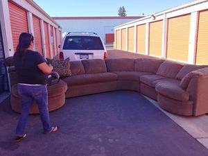 Large sectional couch 500 obo for Sale in Fresno, CA