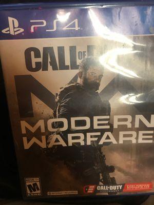 Modern Warfare (2019) PS4 for Sale in Foxton, CO