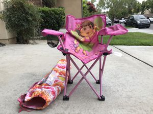 Dora Beach chair & kids play desk with two chairs!! for Sale in Orange, CA