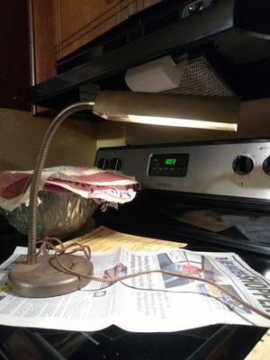 Vintage Antique Brass Flexible Gooseneck Arm Bankers Piano Desk Table Lamp Light Antique Brass Lamp for Sale in Port Huron, MI