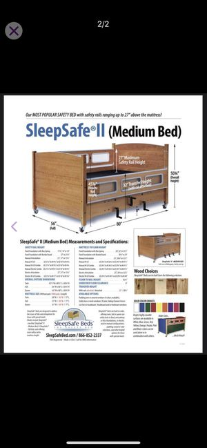 Sleep Safe: The Safety Bed, Model FR 1200 Hi Lo Twin for Sale in Lillington, NC