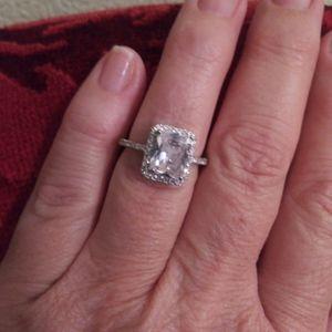Emerald Cut White Sapphire Sterling Silver Size 7 for Sale in Delhi, CA