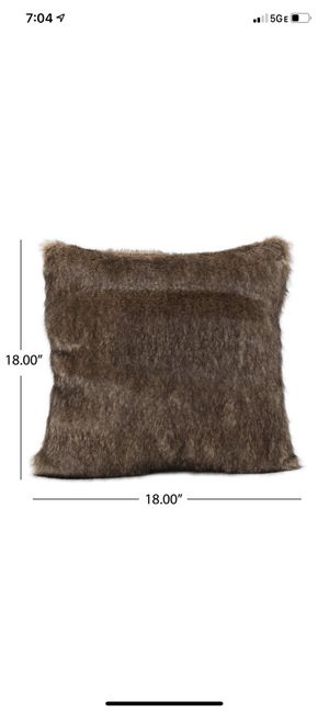 Fur Throw Pillow and Blanket for Sale in Greenvale, NY