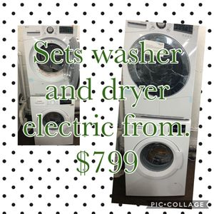 Sets Dryers and washer white shorts models. for Sale in Garfield, NJ