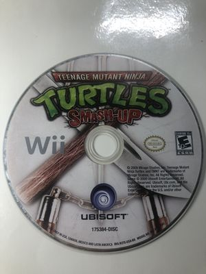 Teenage Mutant Ninja Turtles: Smash-Up - Nintendo Wii - DISC ONLY - Game Only for Sale in South Gate, CA