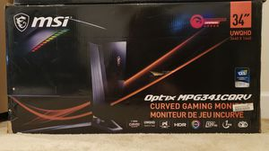 MSI Curved Gaming Monitor, 120Hz, 3440x1440 for Sale in Waldorf, MD