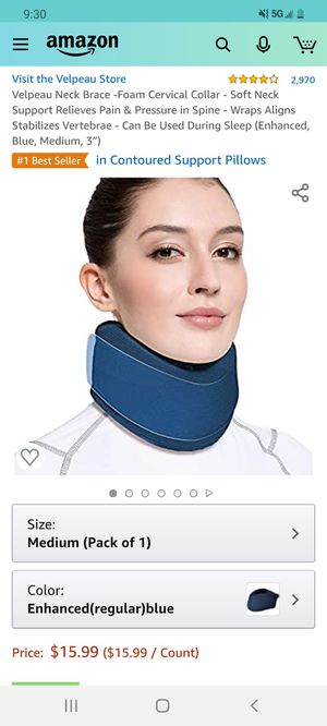 elpeau Neck Brace -Foam Cervical Collar - Soft Neck Support Relieves Pain for Sale in Cary, NC