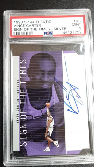 1998 SP authentic Vince Carter sign of The times PSA9 for Sale in Westminster, CA