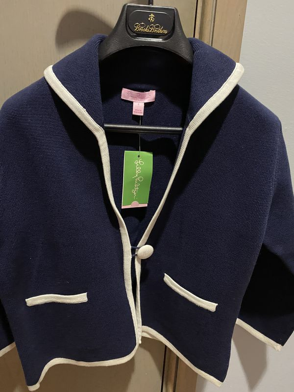 Lilly Pulitzer Nanette Cardigan. Color true navy. Size S. Brand new with tags