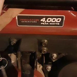 Predator Generator 4000 Watt for Sale in Redmond, OR