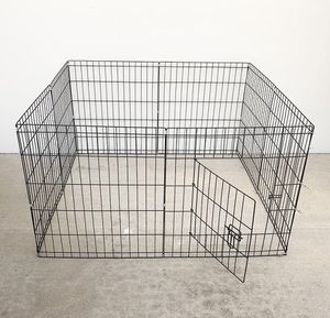 """New in box $30 Foldable 24"""" Tall x 24"""" Wide x 8-Panel Pet Playpen Dog Crate Metal Fence Exercise Cage for Sale in South El Monte, CA"""
