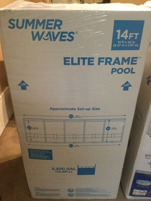 BRAND NEW ON HAND Summer Waves 14ft Elite Frame Pools. for Sale in Sandy, UT
