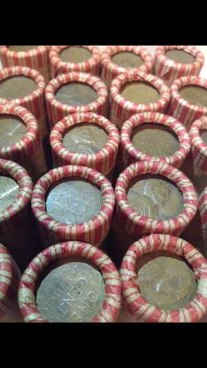 Grandfathers Collection of 20 Rolls of Unsearched 1909-1956 Wheat Pennies- 1,000 Coins Total- VDB/Rare Dates/Error Coins Possible for Sale in Herndon, VA