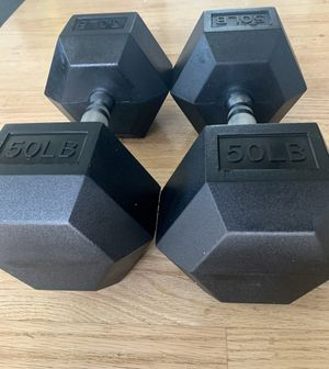 50lb dumbbells! Brand new! for Sale in Los Angeles, CA