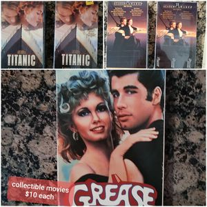 Titanic and Grease movies $5 each for Sale in Southfield, MI