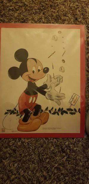 Mickey Mouse Christmas Ad Art for Sale in Appleton, WI