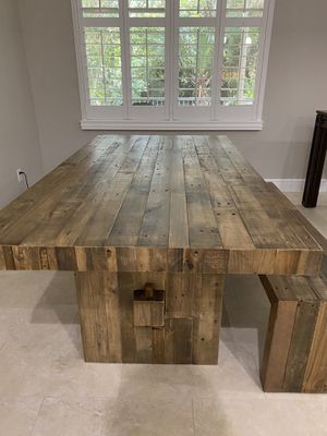 West Elm Reclaimed Wood Dining Table and Bench for Sale in Palm Beach Gardens, FL