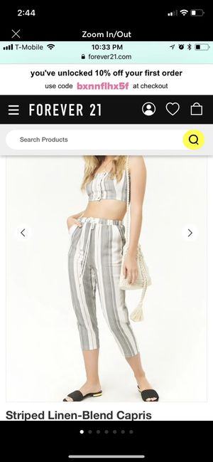 Set Cami And Capri Pant from forever 21 New for Sale in Monterey Park, CA
