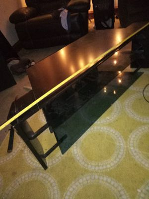 TV stand with 2 glass shelves. Top length 55inchs for Sale in Lakewood, OH