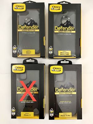 iPhone 7, 8, 7 Plus, 8 Plus, 11 Pro - OtterBox Defender Case. Belt Clip/Holster. Black. for Sale in Newhall, CA