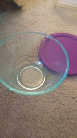 Pyrex Glass bowl with lid for Sale in Herndon,  VA
