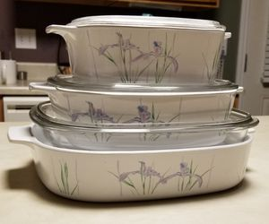 Vintage Shadow Iris 6 piece CorningWare w/ lids for Sale in Murfreesboro, TN