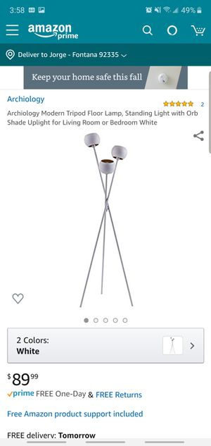 Archiology tripod floor lamp led for Sale in Fontana, CA