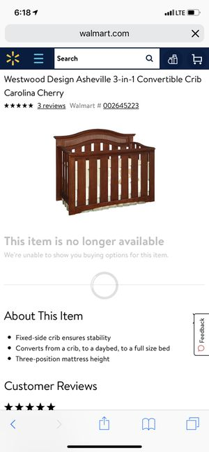 Baby crib Asheville for Sale in West Valley City, UT