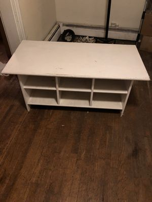 Coffee Table with Storage Shelves for Sale in Chestnut Hill, MA