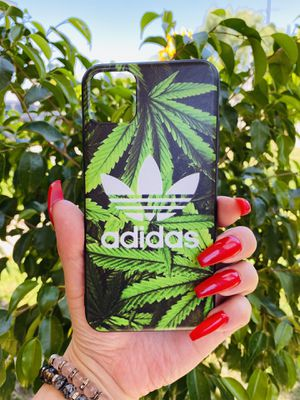Brand new cool iphone 11 PRO MAX 6.5 case cover phone case rubber adidas plants leafs girls guys mens womens skate skateboard swag brands hype hypebe for Sale in San Bernardino, CA