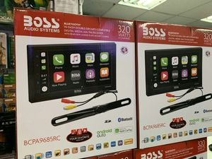 Boss elite stereo with Apple carplay and Android auto. Only 179.99 for Sale in Los Angeles, CA