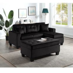 💵39 DOWN 💵 🌸Happy Black Sectional with Ottoman🌸 for Sale in Fort Worth,  TX