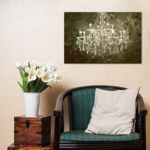 ((FREE SHIPPING)) crystal clear chandelier on abstract oil painting style background modern home decor Painting like print for Sale in San Francisco, CA