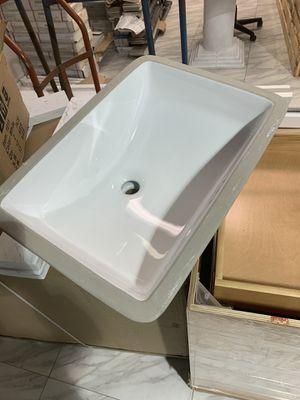 18x12 White Under-Mount Sink for Bathroom Vanity Cabinet Countertop for Sale in Fairfax, VA